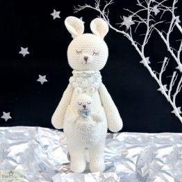 Kangaroo Knitted Toy White