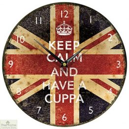 Keep Calm and Have a Cuppa Wall Clock