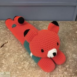 Laying Fox Knitted Toy Blue_1