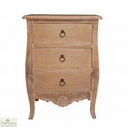 Lyon 3 Drawer Bedside Table
