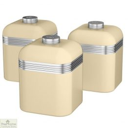 Cream Retro Kitchen Canisters