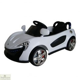 Roadster White Ride on Car