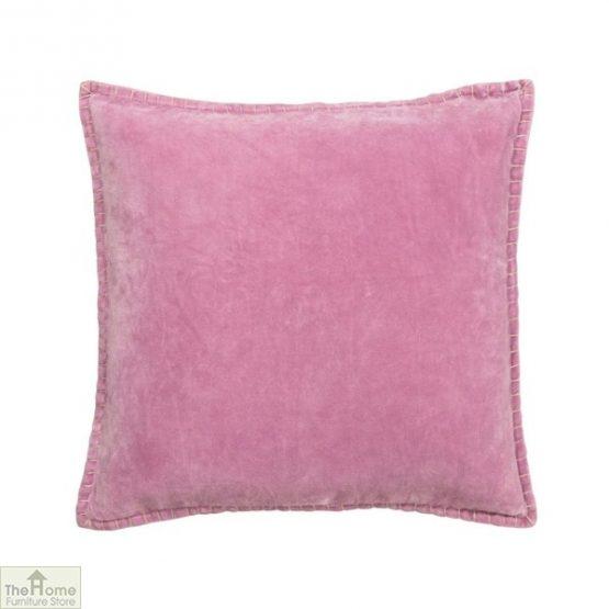 Pale Pink Velvet Cushion Cover