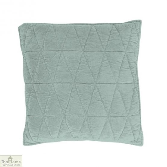Sea Green Cotton Velvet Cushion