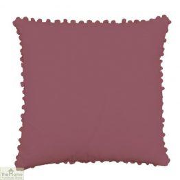 Mauvewood Pom Pom Cotton Cushion