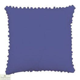 Violet Pom Pom Cotton Cushion