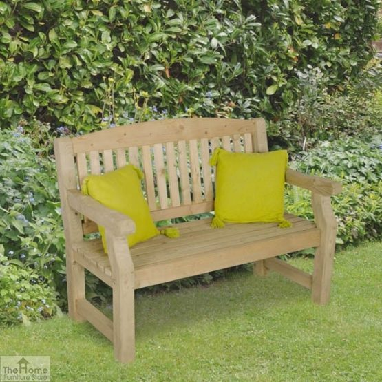 2 Seater Wooden Bench_2