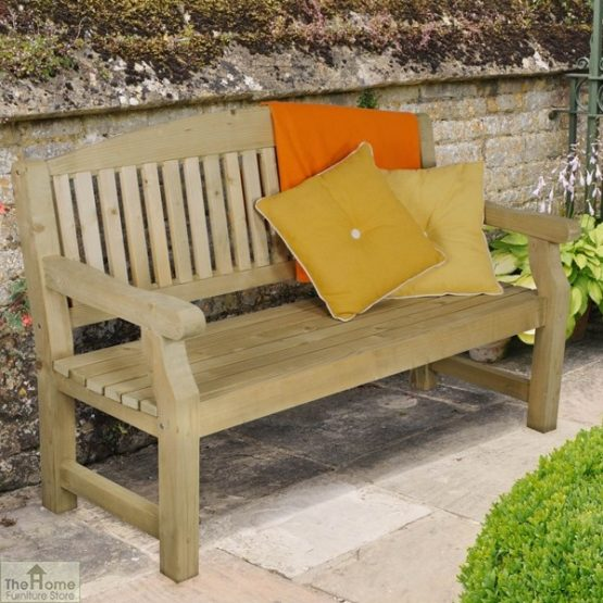 3 Seater Wooden Bench_2