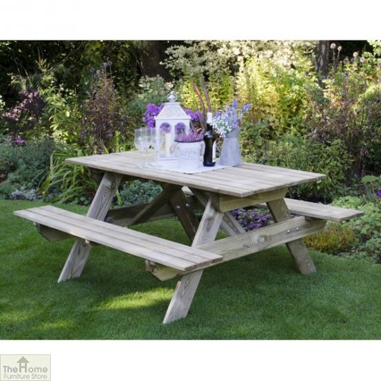 Small Rectangular Picnic Table_2