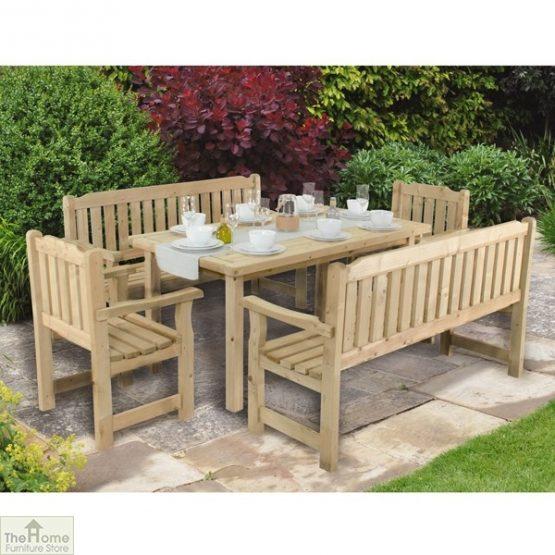 Wooden Rectangular Garden Table_1