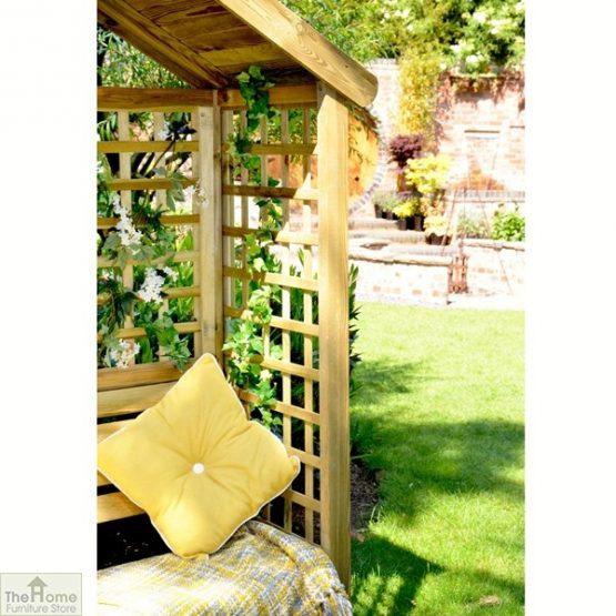 Wooden Trellis Arbour Bench_3