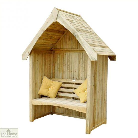 Enclosed Wooden Arbour Seat