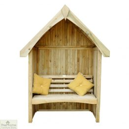 Enclosed Wooden Arbour Seat _1