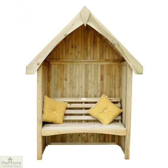 Enclosed Wooden Arbour Seat_1