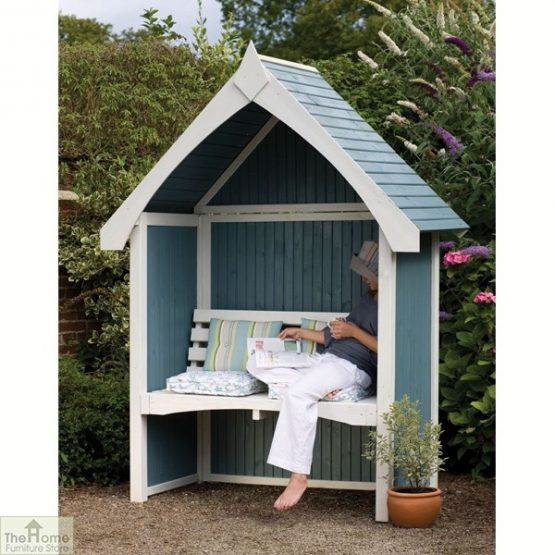 Enclosed Wooden Arbour Seat_2