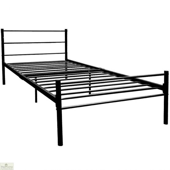 Metal Frame Single Bed Black