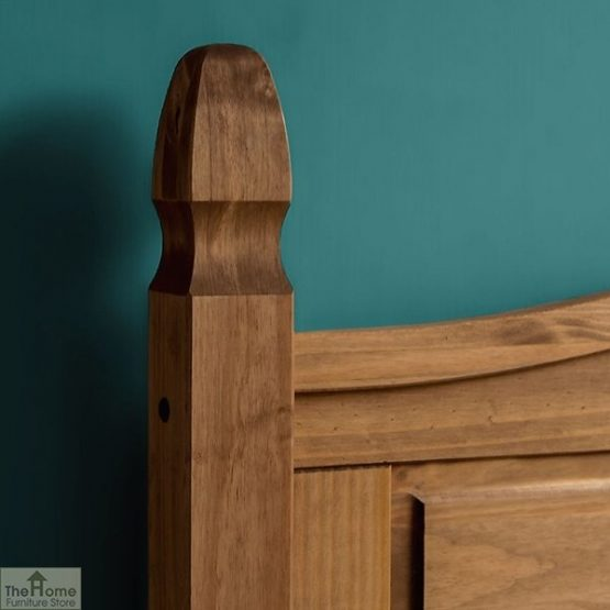 Solid Pine Single Bed Low Foot End_5