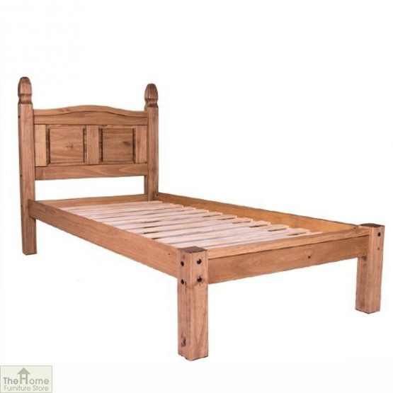 Solid Pine Single Bed Low Foot End