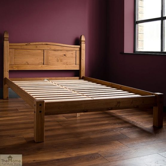 Solid Pine Double Bed Low Foot End_1