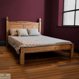 Solid Pine Double Bed Low Foot End_3