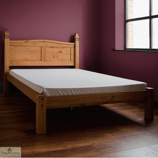 Solid Pine Double Bed Low Foot End_2