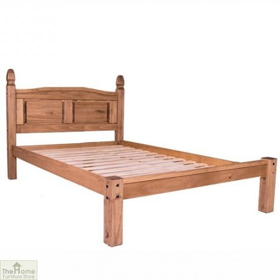 Solid Pine King Size Bed Low Foot End