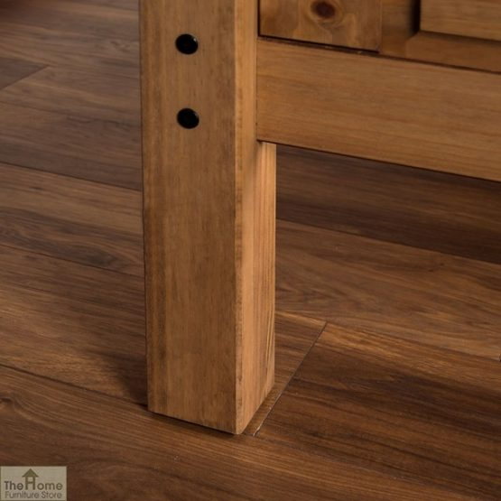 Solid Pine Single Bed High Foot End_6