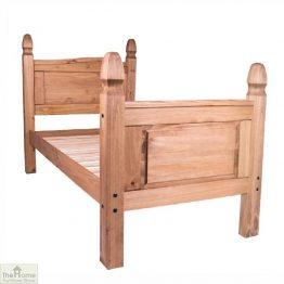 Solid Pine Single Bed High Foot End