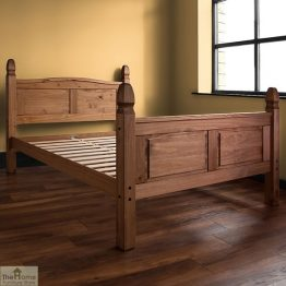 Solid Pine King Size Bed High Foot End_1
