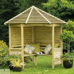 Large Wooden Corner Arbour Seat_1