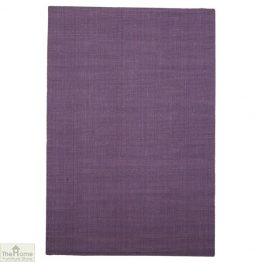 Purple Rectangular Jute Rug