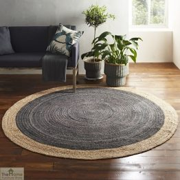 Light Grey Round Jute Rug_1