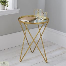 Gold Round Side Table_1