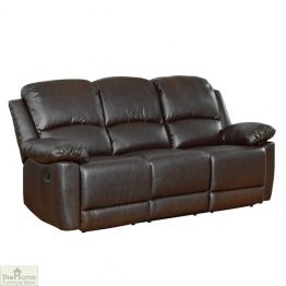 Ontario Leather 3 Seat Reclining Sofa