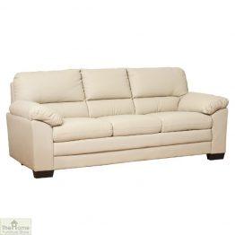 Toledo Leather 3 Seat Sofa Bed