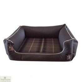 Grey Memory Foam Dog Settee Bed