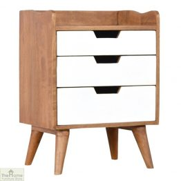 Winchester White 3 Drawer Bedside Table_1