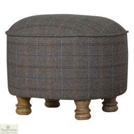 Multi Tweed Oval Footstool_1