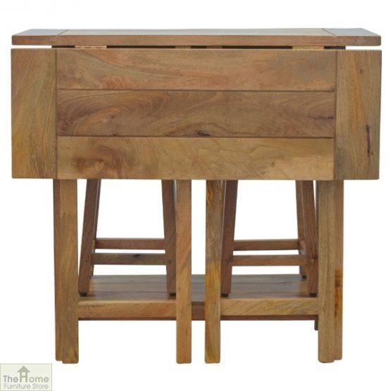 Wooden Breakfast Table Set_2