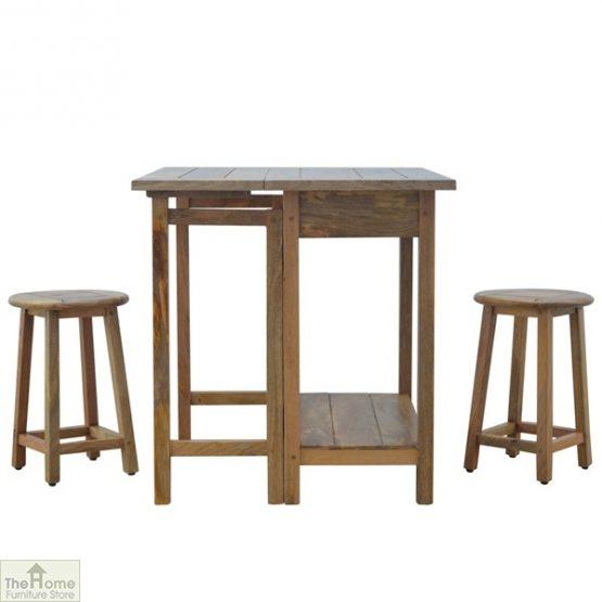 Wooden Breakfast Table Set_7