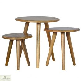 Winchester Natural Round Nest 3 Tables