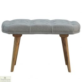 Grey Tweed Petite Bench