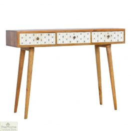 Geometric Print 3 Drawer Console Table_1