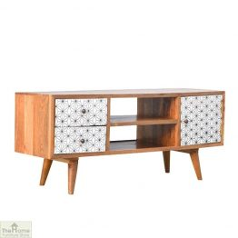 Geometric Print TV Unit_1