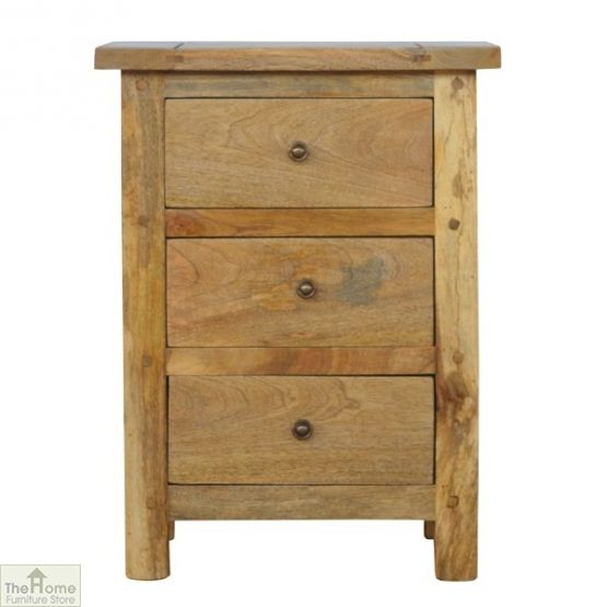 Country 3 Drawer Bedside Table