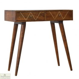 Gold Inlay 2 Drawer Console Table_1