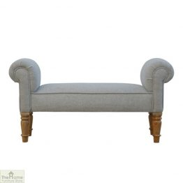 Grey Tweed Bench