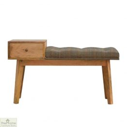 Multi Tweed 1 Drawer Bench