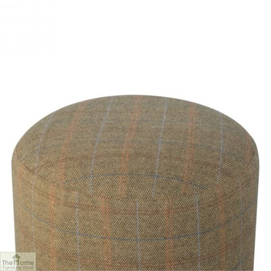 Multi Tweed Round Pouffe_3