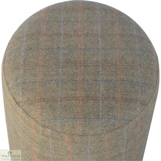 Multi Tweed Round Pouffe_2